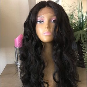 LONG THICK WAVY PONYTAIL PARTED CURLY LACE WIG